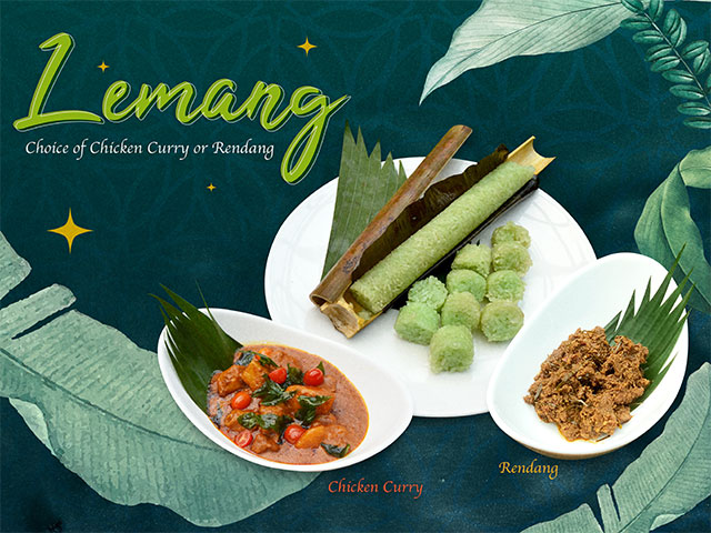 Lemang Choice of Chicken Curry or Rendang