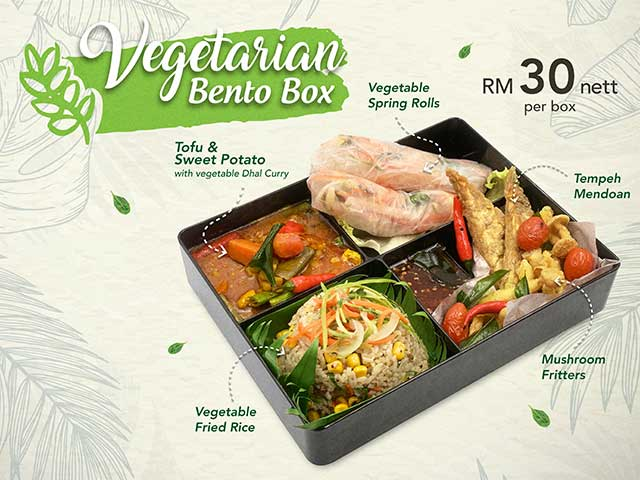 [X3 REWARD POINTS!] Vegetarian Bento Box
