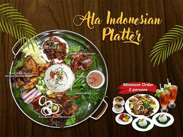 [X2 REWARD POINTS!] Ala Indonesian Platter