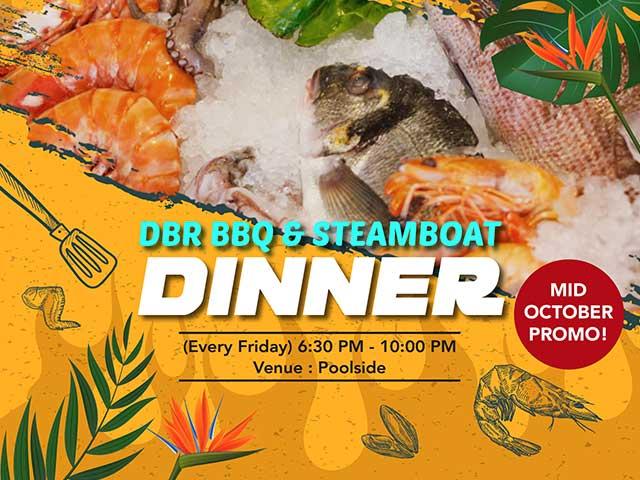 [X5 REWARD POINTS] DBR BBQ & Steamboat Dinner
