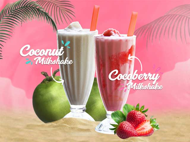Coconut Milkshake & Cocoberry Milkshake
