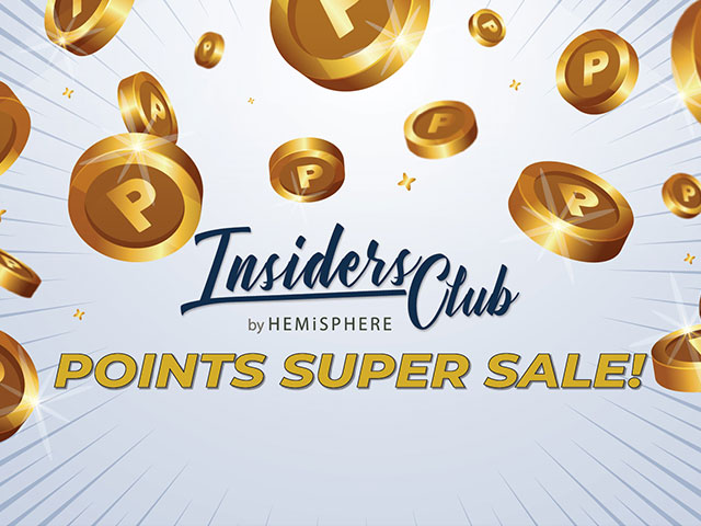 INSIDERS CLUB POINTS SUPER SALE!